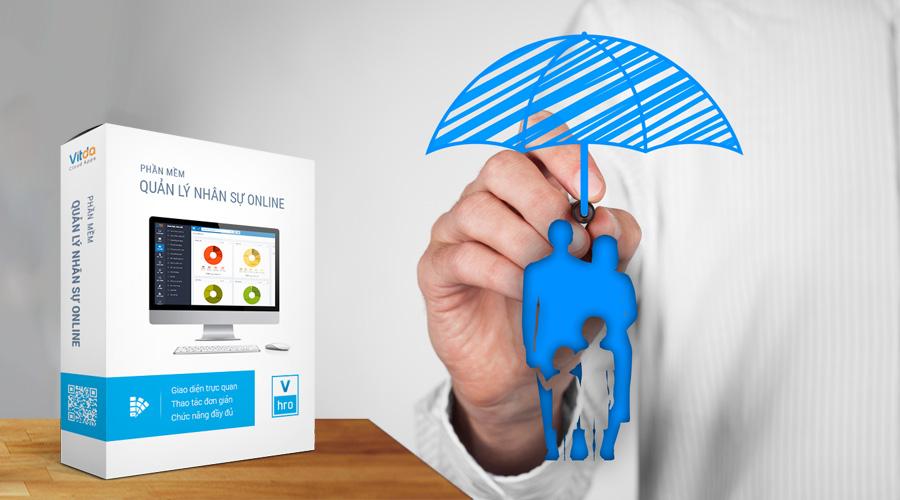 Phần mềm quản lý nhân sự VHRO-form mức đóng bảo hiểm người lao động