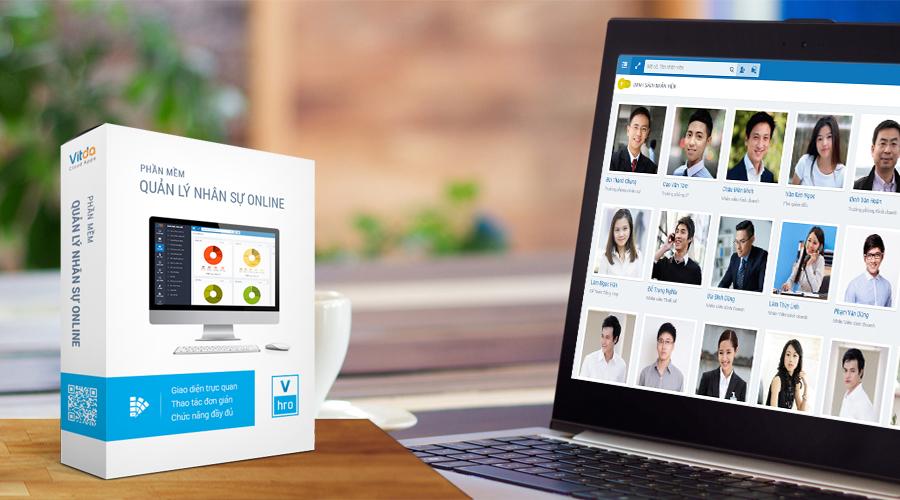 Phần mềm quản lý nhân sự VHRO- xem tổng quan sơ đồ nhân viên công ty