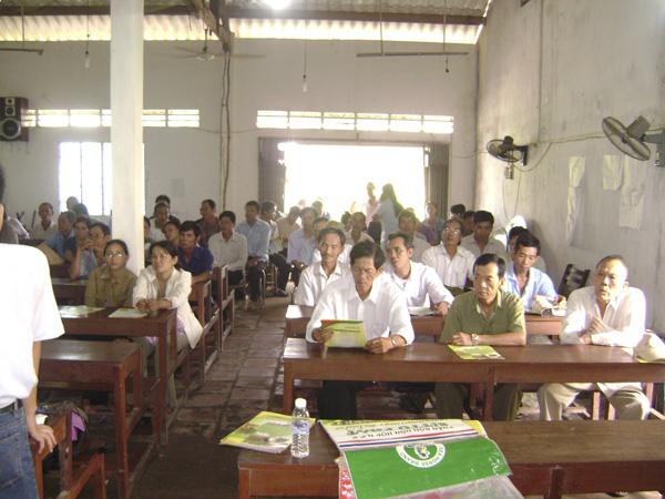 Hội thảo nông dân tại tỉnh Bến Tre