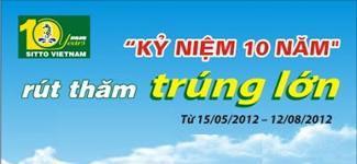 Chương trình khuyến mãi KỶ NIỆM 10 NĂM - RÚT THĂM TRÚNG LỚN